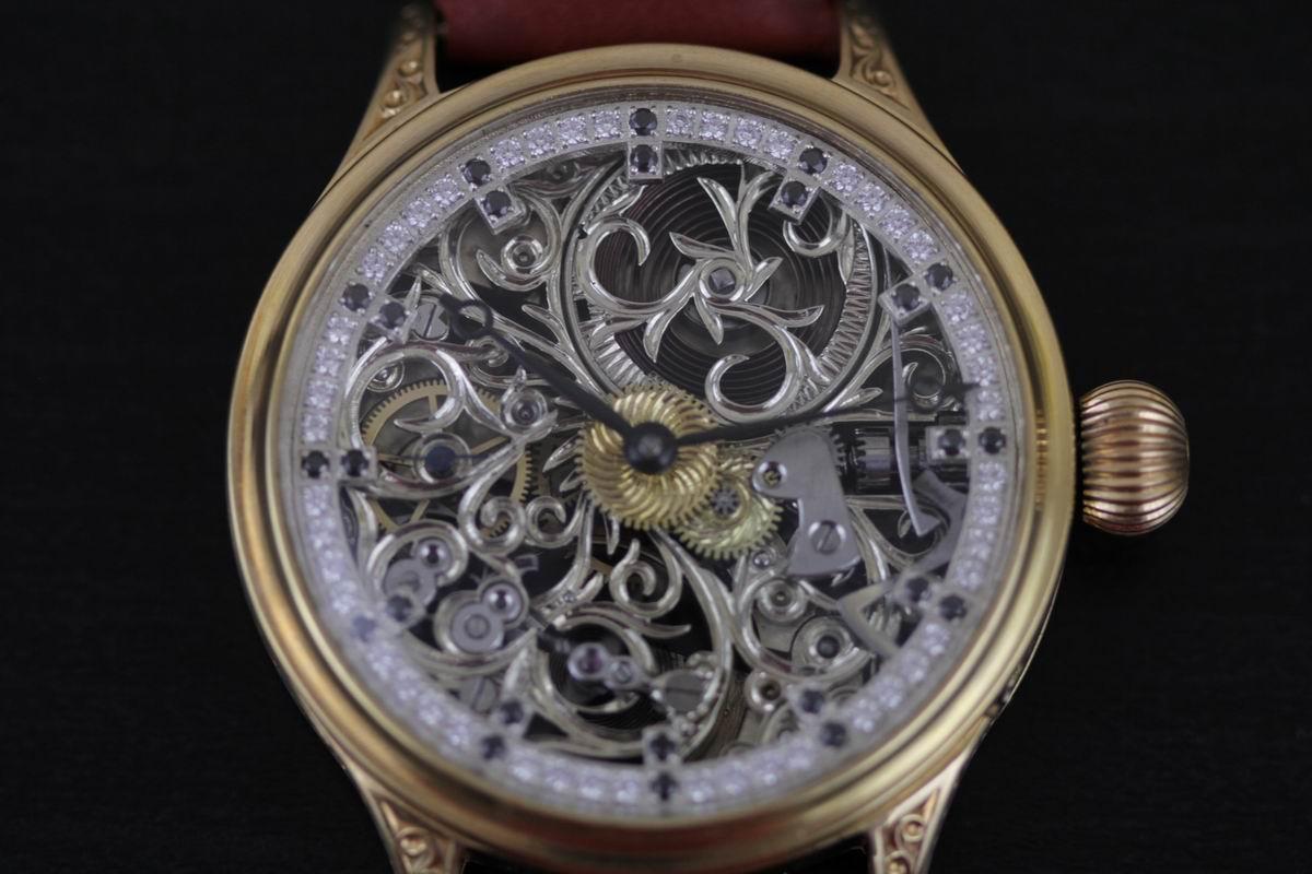 Patek philippe co geneve men 39 s skeleton pocket watch movement for Patek philippe skeleton
